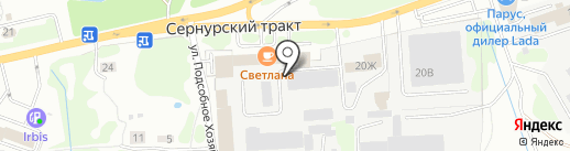 Сибирская на карте Йошкар-Олы