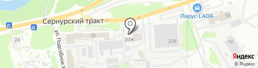 Магазин автозапчастей на карте Йошкар-Олы