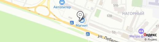 Магнит косметик на карте Йошкар-Олы