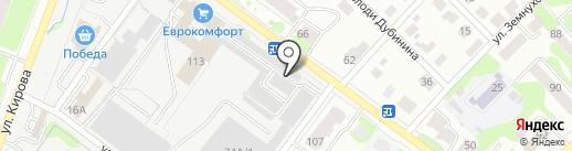 Заречный на карте Йошкар-Олы