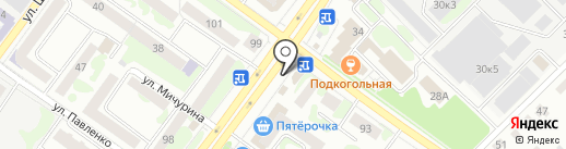 На работе на карте Йошкар-Олы