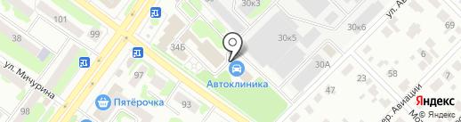 Центр кузовного ремонта на карте Йошкар-Олы