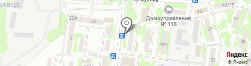 Магазин текстиля для дома на карте Йошкар-Олы