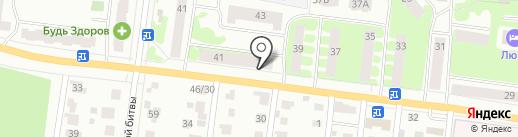 Сорок 1-й на карте Йошкар-Олы