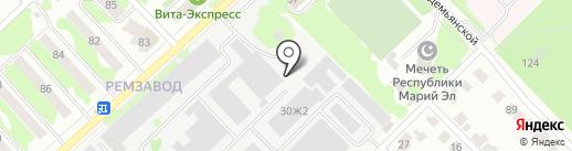 Шараж Монтаж на карте Йошкар-Олы