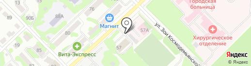 Вятич на карте Йошкар-Олы