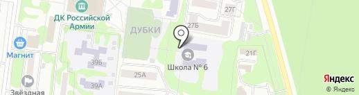 Средняя общеобразовательная школа №6 на карте Йошкар-Олы
