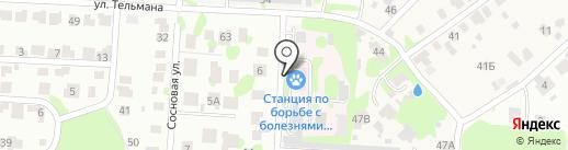Йошкар-Олинская городская станция по борьбе с болезнями животных на карте Йошкар-Олы
