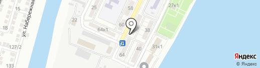 Библиотека №2 на карте Астрахани