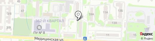 Силуэтъ на карте Йошкар-Олы