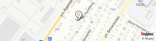 Авеню на карте Астрахани