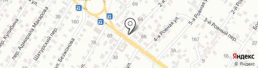 Автобренд на карте Астрахани