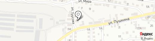 Автомойка на карте Пригородного