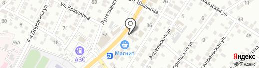 Блэкаут на карте Астрахани