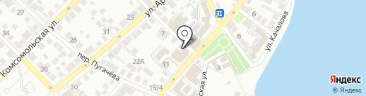 Прометей на карте Астрахани