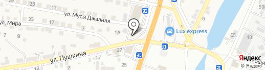 Аст-прибор на карте Пригородного