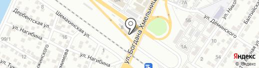 Город дорог на карте Астрахани