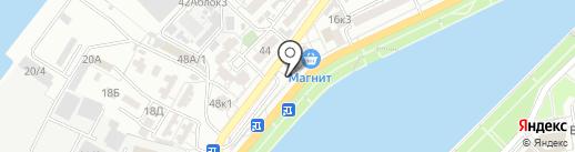 Бакос на карте Астрахани