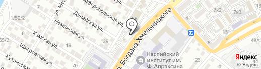 Магазин по продаже красок на карте Астрахани