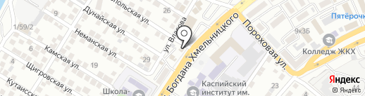 Магазин по продаже автомасел на карте Астрахани