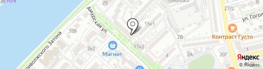 Пятачок на карте Астрахани