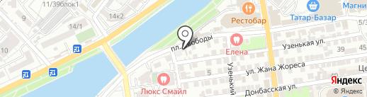 Домостройка на карте Астрахани