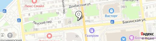 Институт моды, дизайна и технологий на карте Астрахани