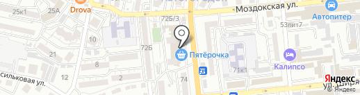 Пион на карте Астрахани