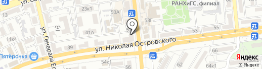 Жилгородок на карте Астрахани
