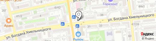 Интернет-кафе на карте Астрахани