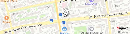 Полина на карте Астрахани