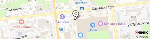 Пуля на карте Астрахани