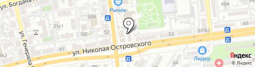 Автоинлайн на карте Астрахани