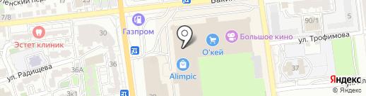 L-оптика на карте Астрахани