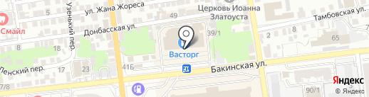 Apriori на карте Астрахани