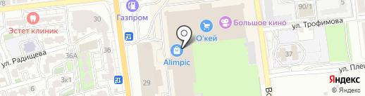 Галатея на карте Астрахани