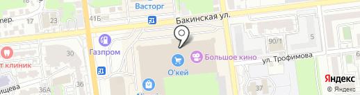 Орматек на карте Астрахани