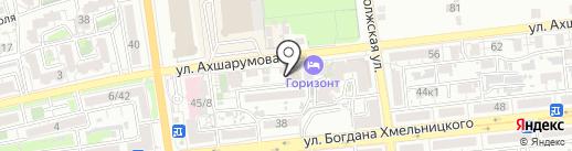 Маяк, FM 101.2 на карте Астрахани
