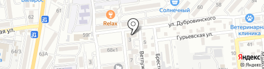 Зоренька на карте Астрахани
