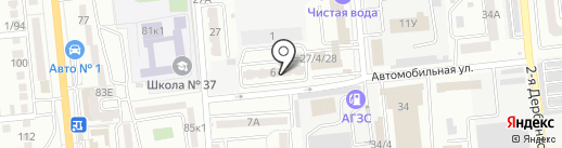 Таманский на карте Астрахани