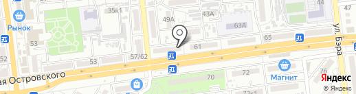 Орлан на карте Астрахани