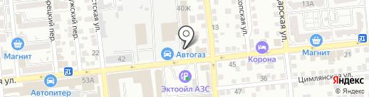 Акварель на карте Астрахани