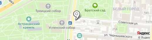 Вобла на карте Астрахани