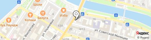 Магазин бланков и канцелярских товаров на карте Астрахани
