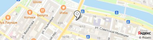 Приволжские Пруды на карте Астрахани