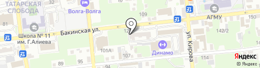 Банкомат, Автоградбанк на карте Астрахани