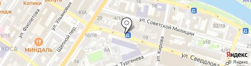 Николь на карте Астрахани