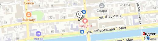 Комтек на карте Астрахани