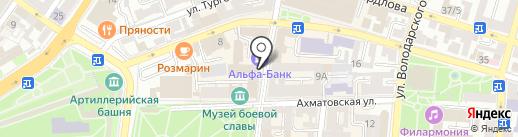 Колечко на карте Астрахани