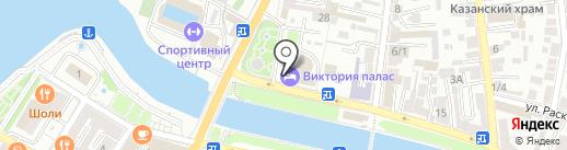 Служба проката автотранспорта на карте Астрахани